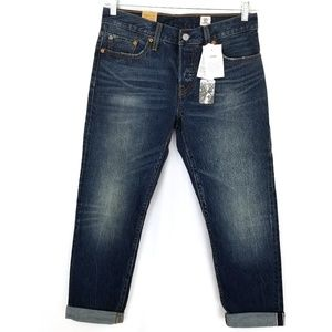 Levi's 501 tapered leg selvedge jeans